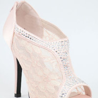 Lace peep toe shoes, Wedding Shoes, Pink, Bridesmaid Shoe, Pink Sandals, Bridal Shoe-200-76