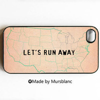 iphone case Let's Runaway Together Let's run by MursBlanc on Etsy