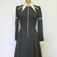 1960s Gray Mod Dress 60s Alfreda