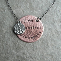 Hand Stamped Divergent Faction Necklaces - I am Divergent, Dauntless