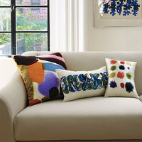 Luli Watercolor Pillow Cover | west elm