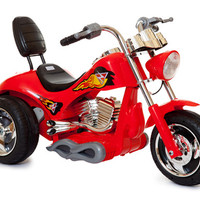 Red 12v Kids Ride-On Hot Rod Chopper Motorcycle - £119.95 : Kids Electric Cars, Little Cars for Little People