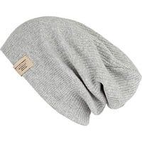 GREY KNIT BEANIE HAT