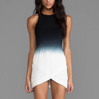 bless'ed are the meek Gradient Dress in Black/White