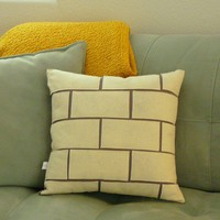 Brick Chimney Pillow Cream by OIive on Etsy
