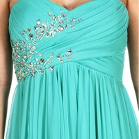 Pre-Order: Mya- Mint Strapless Hi Lo Prom Dress