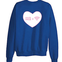 "Tumblr Transparent ""Me and Wifi"" Sweatshirts"