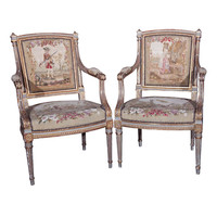 Pair of Louis XVI Fauteuil