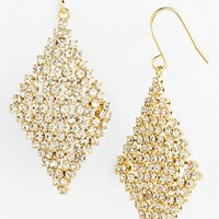 Lauren Ralph Lauren Crystal Mesh Drop Earrings | Nordstrom