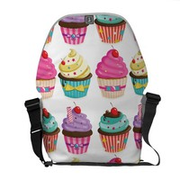 Cupcake Pattern Messenger Bag