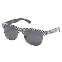 Tribal-Inspired Browline Sunglasses | Wet Seal