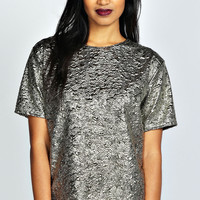 Ellie Metallic Jacquard Shell Top