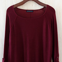 Old School Boat Neck Sweater, Burgundy