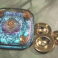 Charm and Button converter turn Button into Pendant, Gold Plated BRASS
