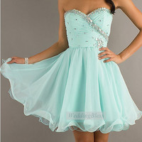 Light Blue Prom Dress Sequin Cocktail Dress