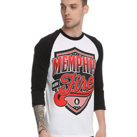 Memphis May Fire Shield Logo Raglan