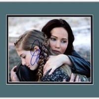 Jennifer Lawrence in The Hunger Games: Catching Fire Autographed 8x10 Photo Matted to 11x14 Size