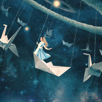 My Favourite Swing Ride Art Print by Paula Belle Flores