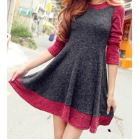 Spell Color Long-Sleeved Knit Dress BACCBI from Eternal