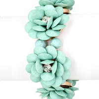 Flower Bracelet Medium Mint : Cute Aprons - Cute Holiday Dresses - Cute Maxi Skirts - Cute Christmas Gifts - Daisy Shoppe