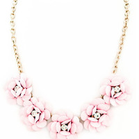 Flower Necklace Medium Pink : Cute Aprons - Cute Holiday Dresses - Cute Maxi Skirts - Cute Christmas Gifts - Daisy Shoppe