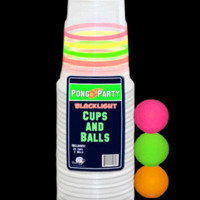 ID79080 - Pong Party Blacklight Cups and Balls Set