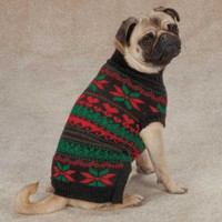Shopping | Zack & Zoey Classic Holiday Pet Sweater - Black