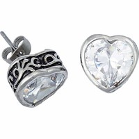 Montana Silversmiths Filigree Heart Post Earring - Tractor Supply Co.