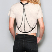 Wonderland LA - Triple Chain Harness - black