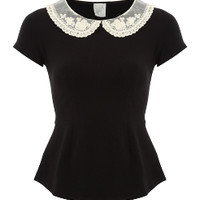 G21 Crochet Collar Peplum Top | Women | George at ASDA