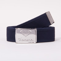 OG Logo Clamp Belt in Navy/Silver