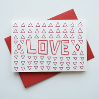 LOVE - Card with Envelope
