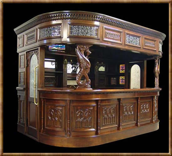 Home Pub Bar Or Covered Tavern Bar With From