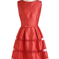 Dinner Party Darling Dress in Poppy | Mod Retro Vintage Dresses | ModCloth.com