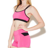Colorblock Criss Cross Sports Bra | Wet Seal