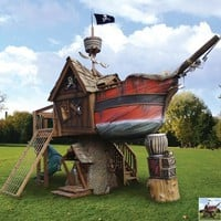 The Pirate Ship Playhouse - Hammacher Schlemmer
