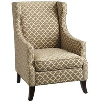Alec Wing Chair - Gray Trellis