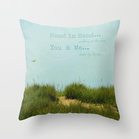 Hand in Hand... Throw Pillow by RDelean