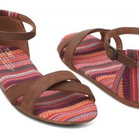 Pink Stripes Mix Women's Correa Sandals