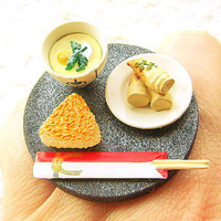 Japanese Food Ring Rice Bamboo Chawanmushi by SouZouCreations