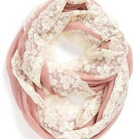 BP. Lace Trim Infinity Scarf (Juniors) | Nordstrom