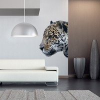 Leopard Head, American Leopard Vinyl Wall Art Decal Stickery , Head of Wild Leopard Wall Sticker decal