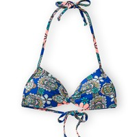 Hobie Womens Hobie Paisley Bralette Top - Blue, X-Small