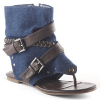 Denim cuff sandals - Shoes  - Shoes  - evans
