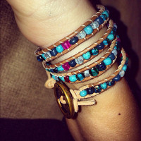 Beaded Stackable Wrap Around Bracelet