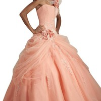 Gorgeous Bridal One-shoulder Elegant Tulle Ball Gown Quineanera Dress