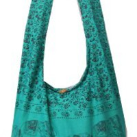 Emerald Hippie Hobo Boho Vintage Elephant Sling Cotton Yam Buddha Crossbody Shoulder Messenger Bag Purse Tote EA49