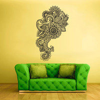Wall Decal Vinyl Mural Sticker Art Decor Bedroom Flowers Bedroom Mandala (z1730)