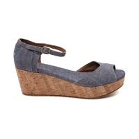 Womens TOMS Platform Wedge
