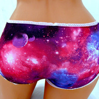 Galaxy Nebula Space bikini boyshort Panties Lingerie your size
